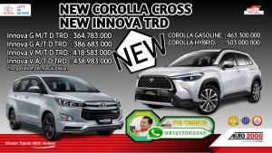 NEW PRODUK COROOLLA CROSS DAN NEW INNOVA TRD 2020