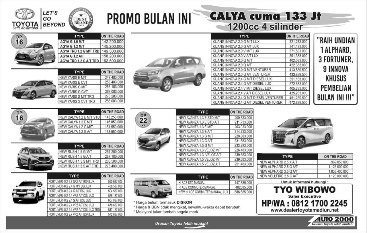 Promo Toyota Terbaru JUNI 2019, Segera hubungi saya langsung di Nomer : 081217002245 ,