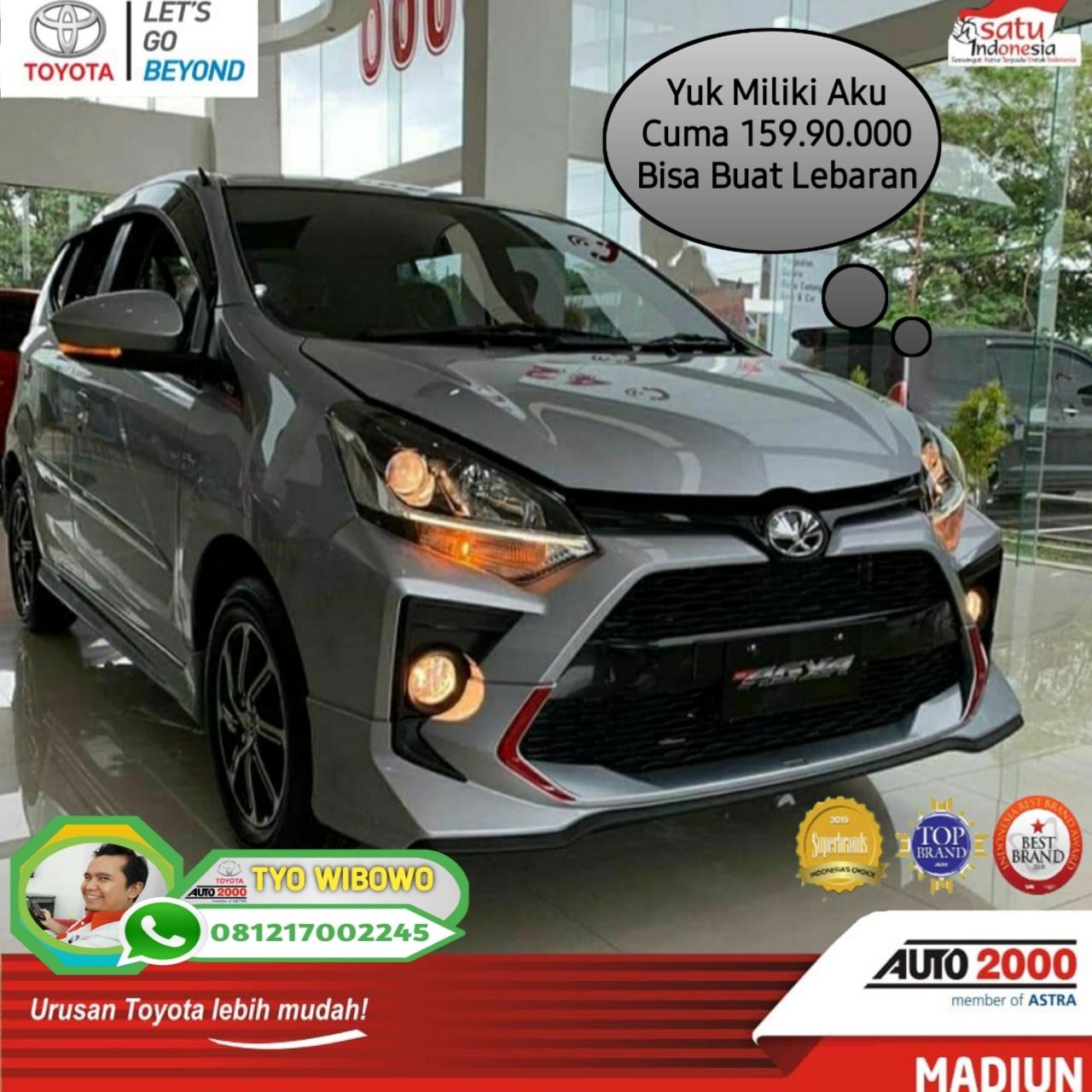 Promo New Agya 2020 Buat Lebaran .Hub : Tyo Wibowo 081217002245 Auto2000 Madiun